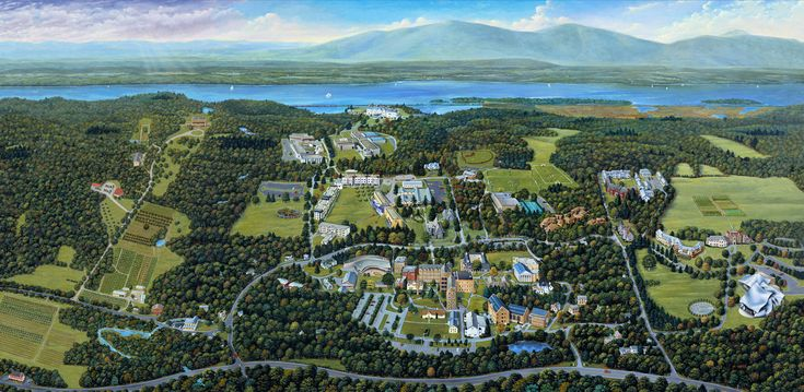 MARK HESS ILLUSTRATION: BARD COLLEGE MAP PROJECT