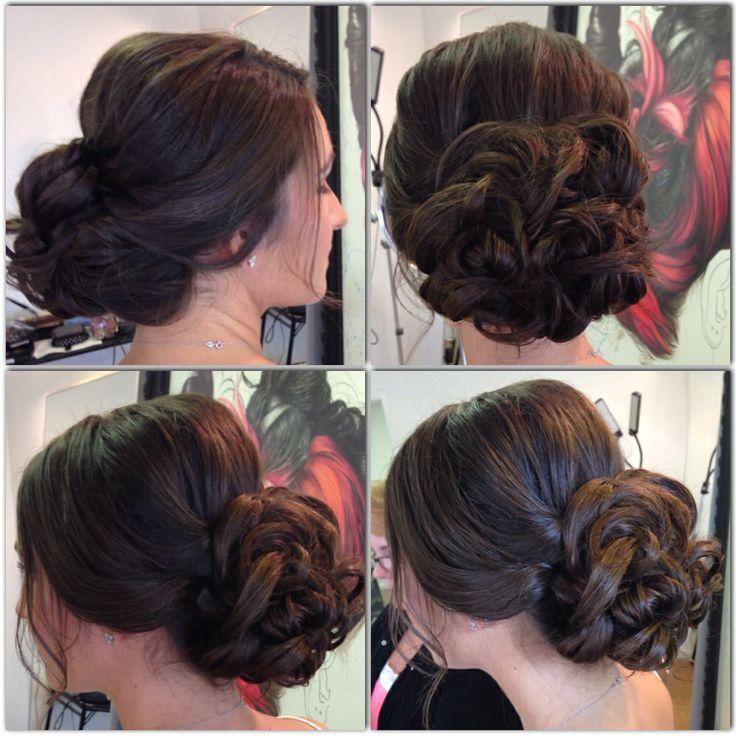 Wedding Hairstyle Low Bun: Wedding Hair, Bridal Hair, Beachy Hair, Updo, Low Bun