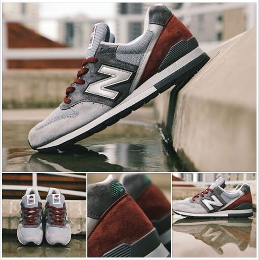 New Balance M996GK Connoisseur American Painters 8-12 Made in USA Grey Burgundy