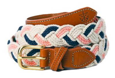 Croffix Sailing Belt in Honey Fitz: love navy and pink