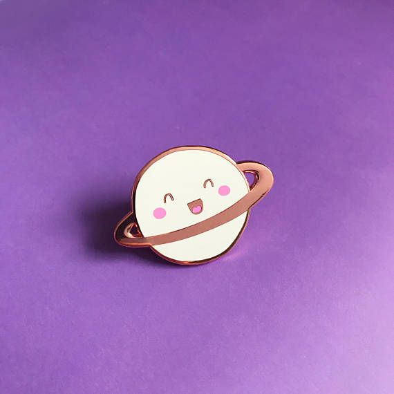 Happy Planet Lapel Pin - Nutmeg and Arlo