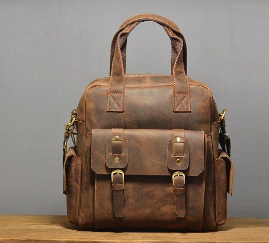 leather messenger bag / Men's Leather bag / by QandJstudio on Etsy, $85.00