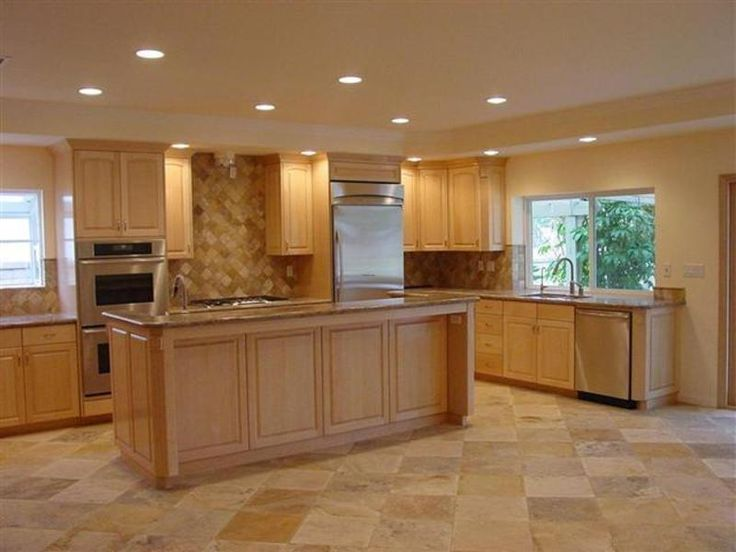 Kitchen color schemes with maple cabinets maple kitchen for Kitchen cabinet paint design ideas
