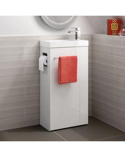 Brooklyn Toiletmeubel Met Houder Hoogglans Wit 44 cm 1