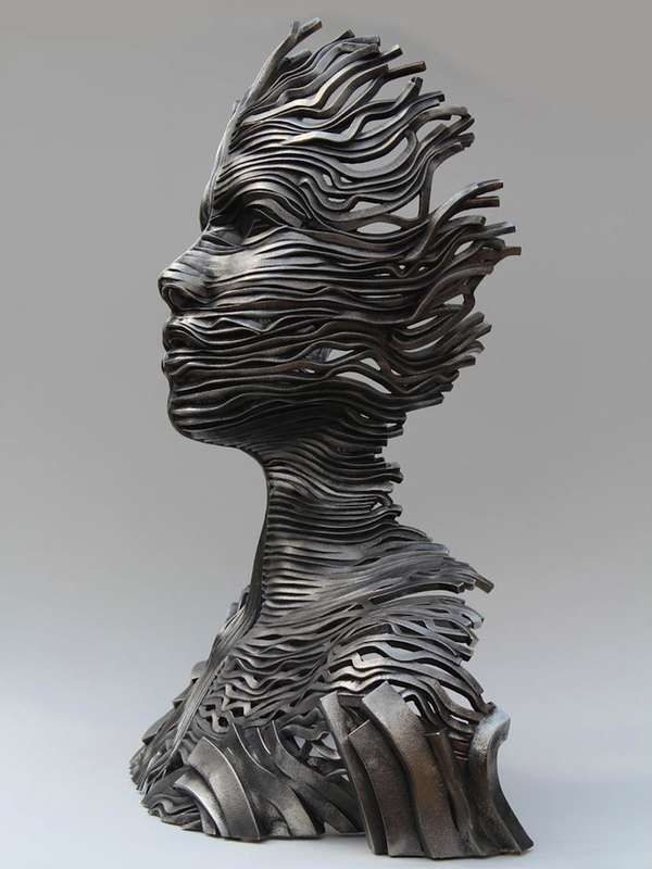 Flowing Organic Steel Sculptures - The 'Flow' Collection Transforms Steel into Life-Like Sculptures (GALLERY)