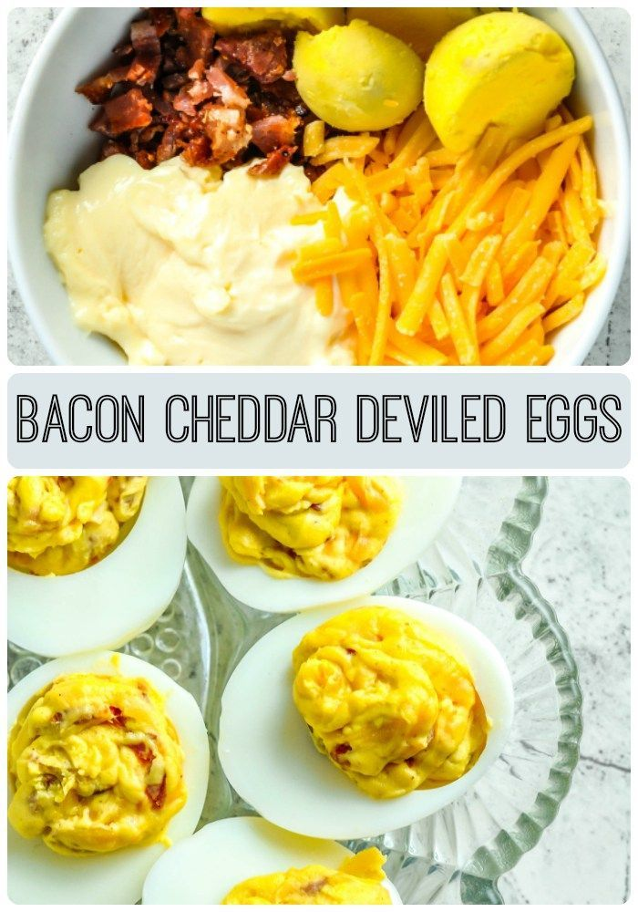 savory bacon and cheddar cheese deviled egg recipe sure to please ...