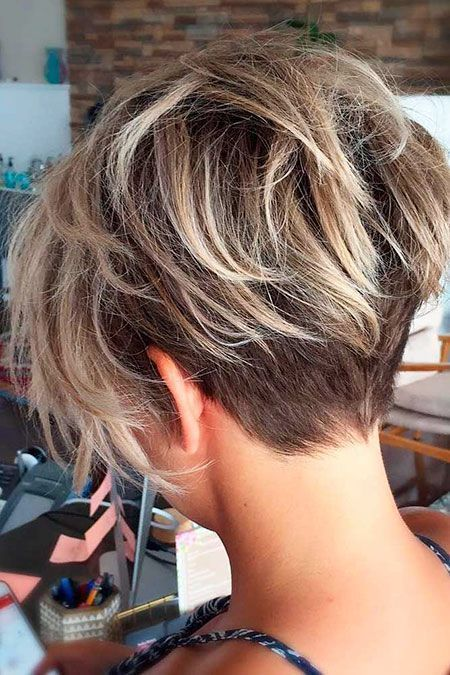 Messy Pixie Haircut, Frauen Bob Choppy Blonde