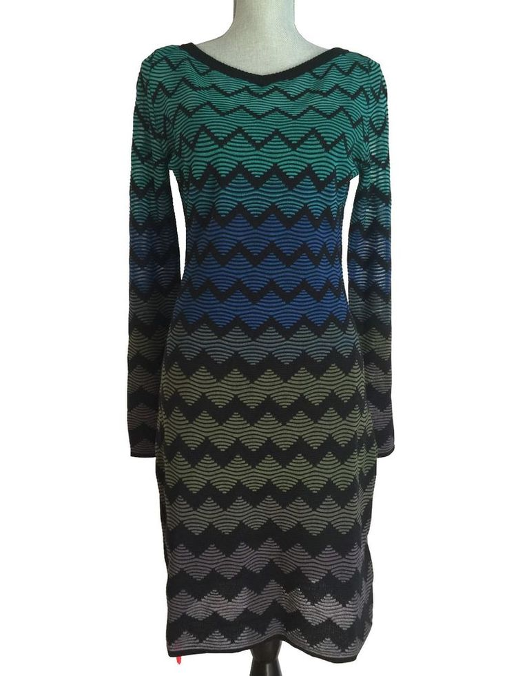 2018 Unisex Sale Genuine M Missoni Woman Metallic Crochet-knit Mini Dress Midnight Blue Size S M Missoni VjD1S