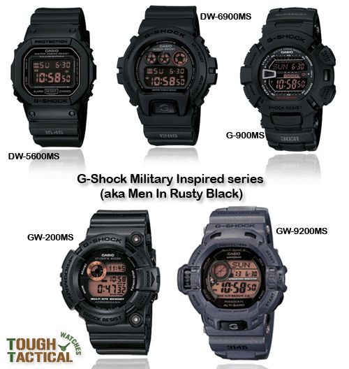 "The best G-Shock Black Military Inspired series!. First released in 2009 called ""G-Force: Military Inspired"""