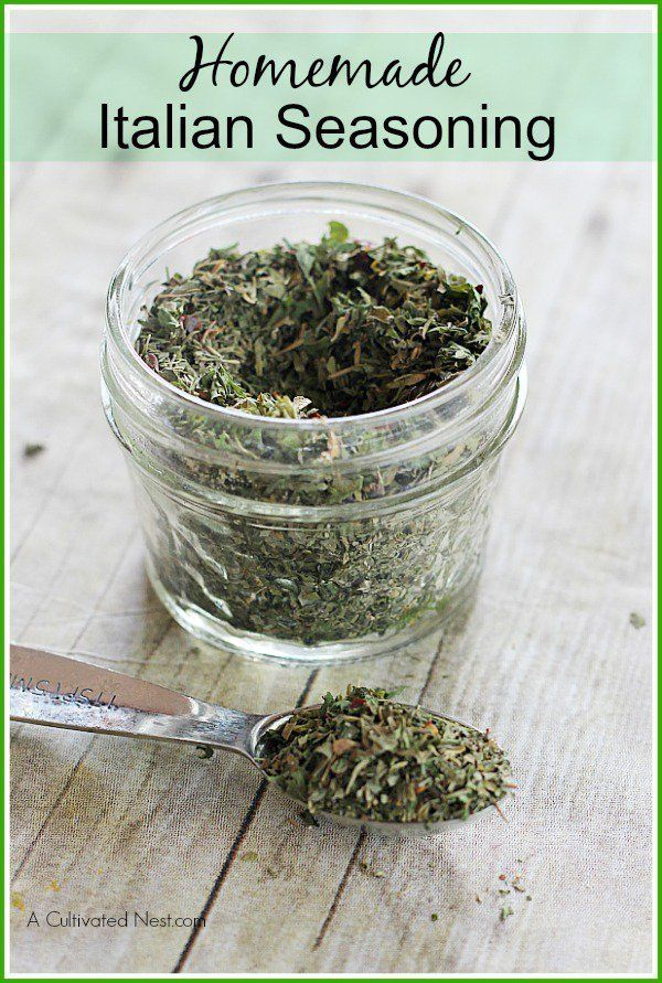 Homemade Gourmet Italian Seasoning Mix - delicious added to olive oil for dipping bread or used as you would store bought Italian Seasoning