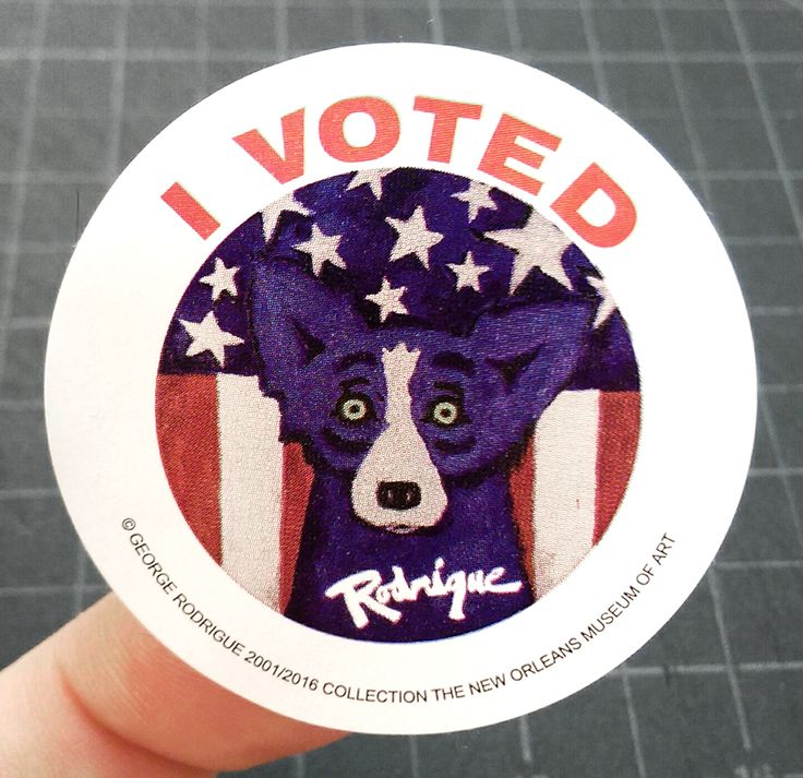 [Election 2016] I Voted Blue Dog stickers handed out at Louisiana polls. http://ift.tt/2fMAz2p
