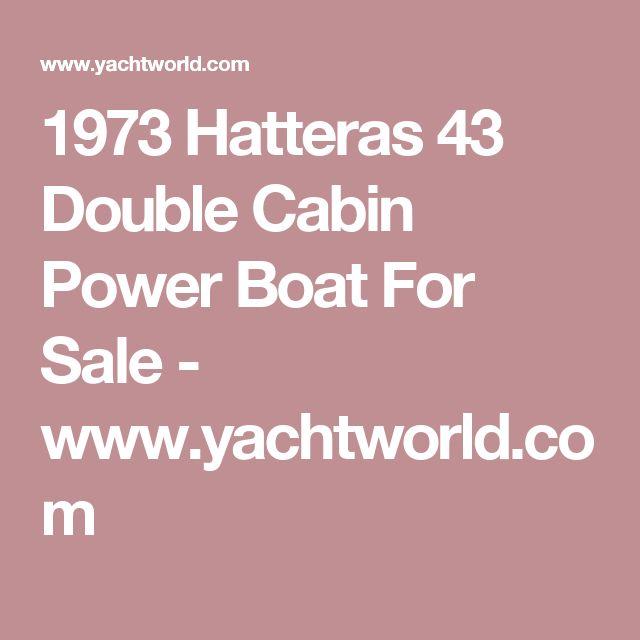 1973 Hatteras 43 Double Cabin Power Boat For Sale - www.yachtworld.com