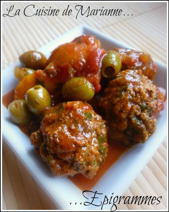 Kefta aux olives