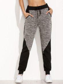 Pantalones bolsillo largo - color combinado