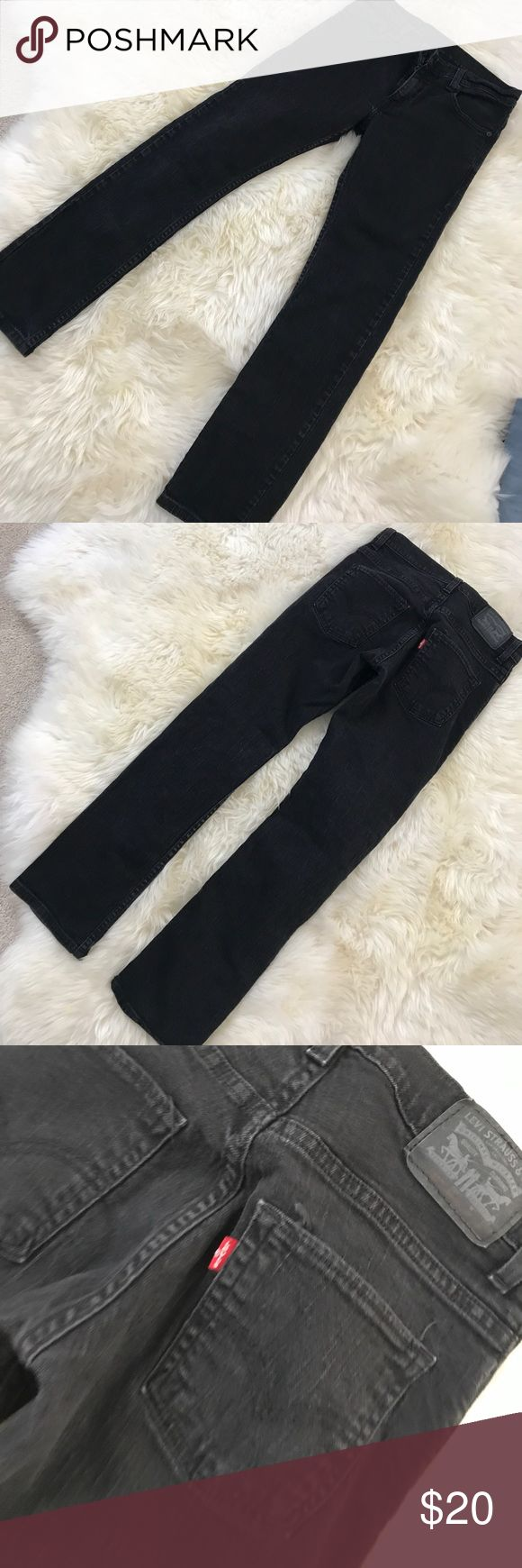 FINAL PRICE❤️Boys Levi's jeans Black 511 Levi's Skinny stretch jeans with distressed look. My son wont wear jeans so I know these have not been worn but the have to look of wear im guessing from the stretch kind of material. I posted a pic of how the jeans look in last pic, I guarantee thats the way I bought them. Ive manage to get him to try on jeans but he will not wear them.📦SAME DAY SHIPPING 🎁FREE GIFT WITH ALL FULL PRICE ORDERS (offers excluded) Levi's Bottoms Jeans