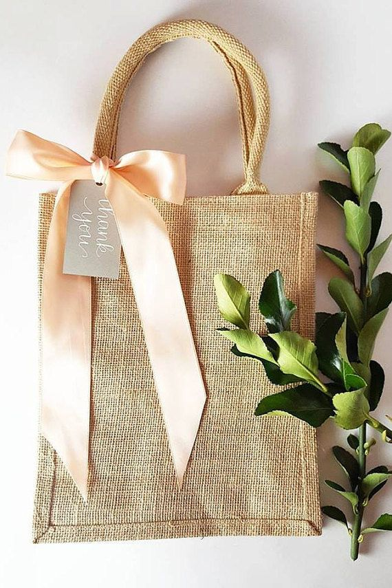 Rustic Elegant Burlap Wedding Hotel Welcome Bag, Gift, Favor