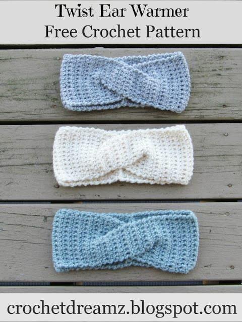 Como fazer crochê uma bandana de torção rápida ou Earwarmer, um padrão de crochê livre