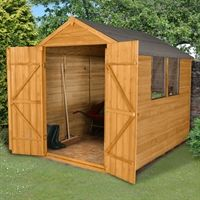 If you are looking for a handy storage shed that will offer secure storage for a large capacity of outside goods, then look no further than this 8x6 overlap double door dip treated shed. The twin doors make storing the bulkier and wider items much easier as well as offering even more rustic charm to the shed.   The 8x6 overlap double door dip treated shed has been constructed to a very high quality using a tough timber to assure value. The shed is made using a thick 28mm framing of which an…