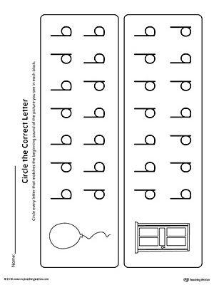 b d letter reversal match beginning sound worksheet tot school beginning sounds worksheets. Black Bedroom Furniture Sets. Home Design Ideas
