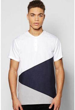Short Sleeve Splice Grandad Shirt