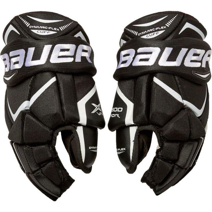 Bauer Senior Vapor X800 Ice Hockey Gloves, Black