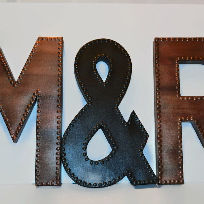faux metal letter wall letters faux metal wall letters large metal letters wedding guest book ampersand sign rustic letter by ellamurphydesigns on