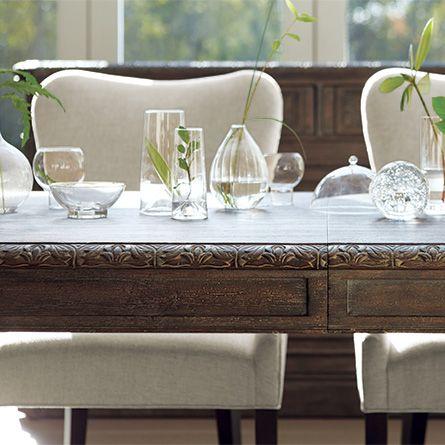 "Barnett 66"" Extension Dining Table in Black Forest"