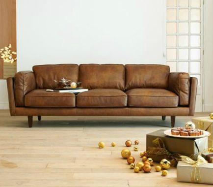 Coup de ❤ canapé cuir Brooklyn d'Alinea • - Deco Trendy ...