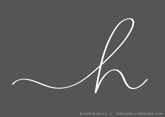 """h"" initial, handwritten 