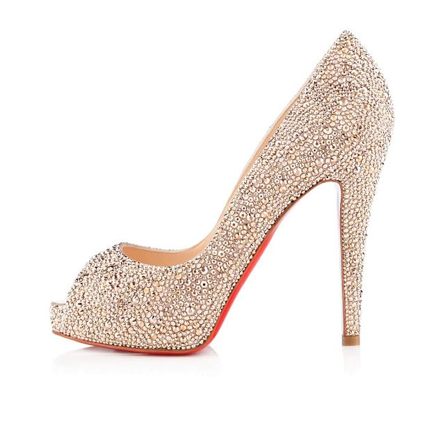 Sapato debutante, Loubotin prata, salto alto