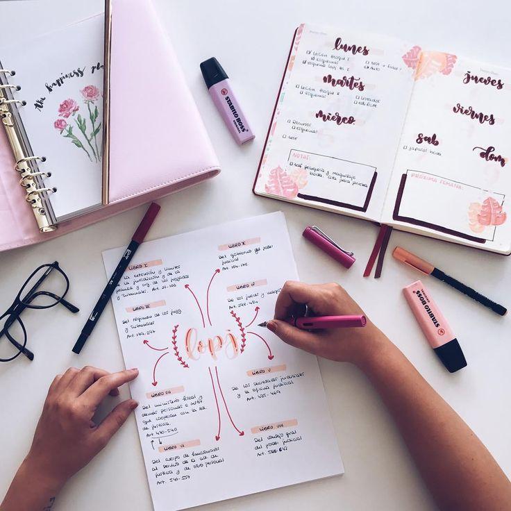 """2,167 likerklikk, 22 kommentarer – Bullet Journal & Studygram (@mylittlejournalblog) på Instagram: """"Que no hay nada que me de más rabia que hacer un esquema o resumen y darte cuenta al final que te…"""""""