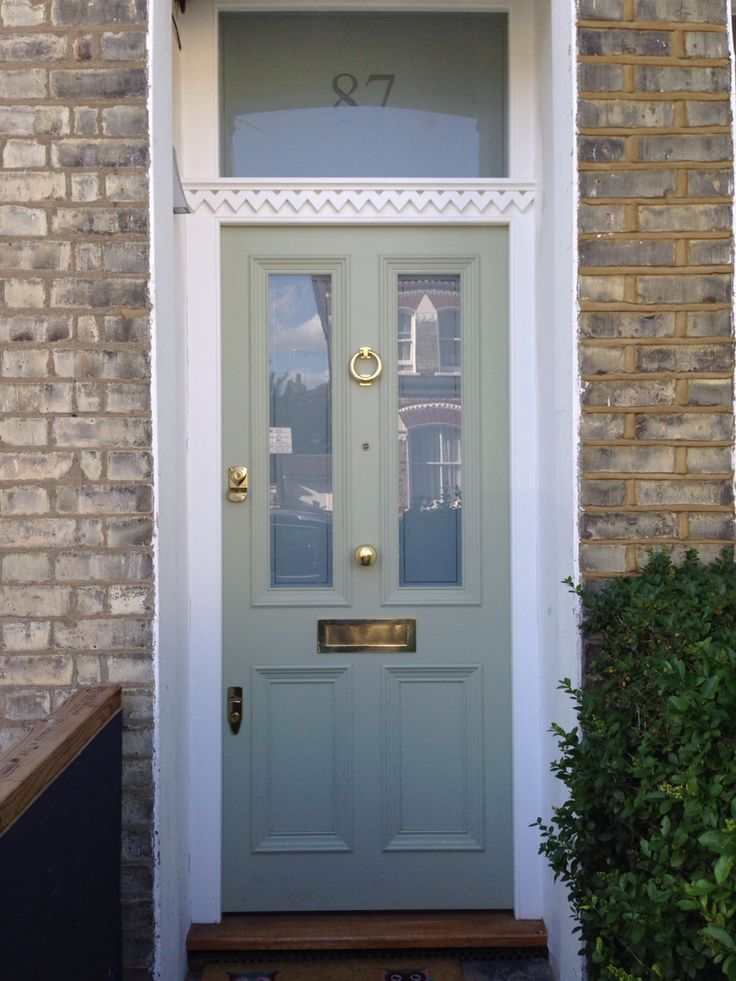 A Victorian Four Panel Front Door With Unusual Dental