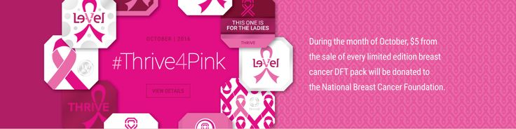 During the month of October, $5 from the #sale of every #limited #edition #Breast #Cancer #Thrive #DFT pack will be donated to the National Breast Cancer Foundation. #BTHO Breatst Cancer aggiechick.Le-Vel.com.