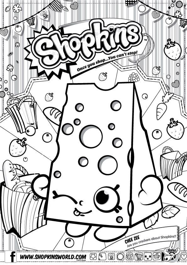 Shopkins Coloring Pages Season 1 Chee Zee