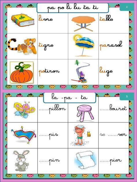 Atelier syllabes initiales périodes 1 et 2 - En classe Pascale !