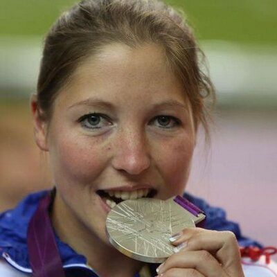 Céline Goberville, a Gold medallist for France at the 2012 London Olympics in the air pistol