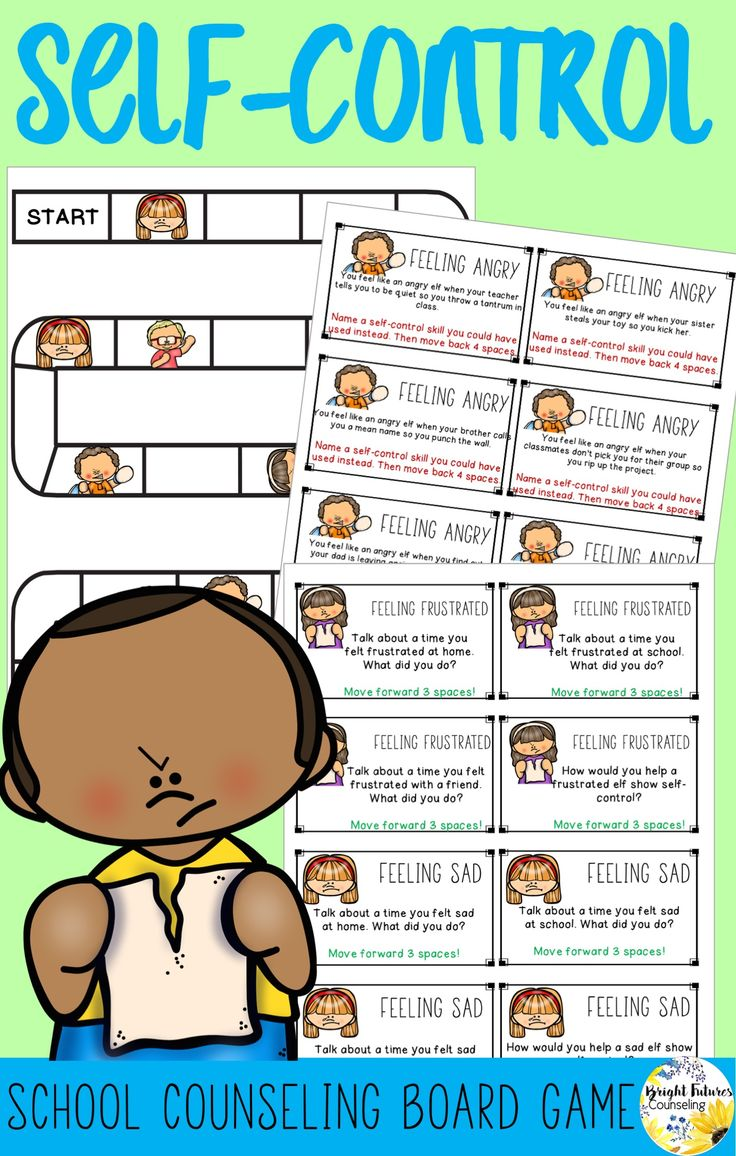 Teach students self-control strategies with this fun elementary school counseling board game. It can be played with a small group or individual!