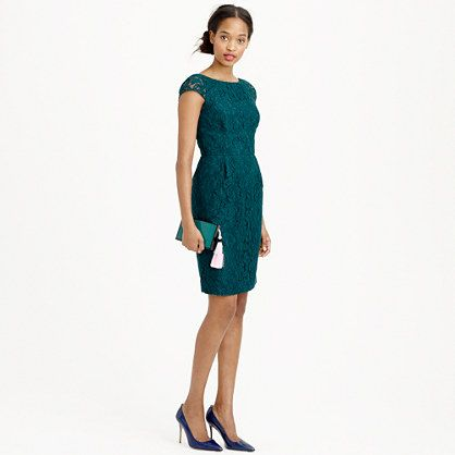 J.Crew - Elsa dress in Leavers lace -- this comes in a bunch of great colors; I like champagne, ivory, and the gray