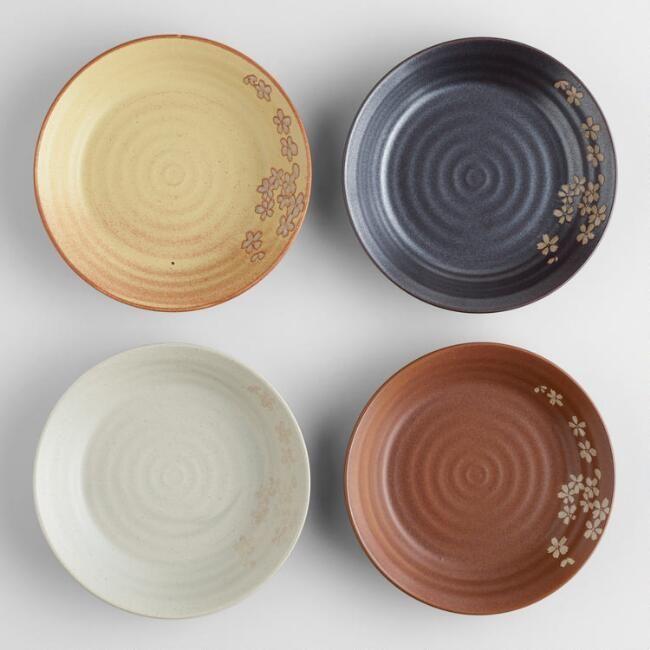 World Market Fuji Dinner Plates, Set of 4