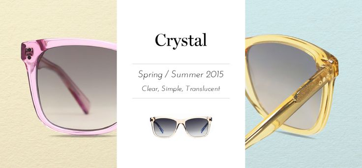 Fresh hues for spring summer 2015 From clothes, shoes, accessories to handbags, you can find breezy candy colors and transparent material in most brands, and are set to be the huge trends next season! Make sure you grab a pair of transparent sunnies to welcome the arrival of spring!  http://goo.gl/gCK5p5  ‪#‎trichromeeyewear‬ ‪#‎sunglasses‬ ‪#‎transparent‬ ‪#‎hotitem‬ ‪#‎musthave‬ ‪#‎SS‬ ‪#‎spring2015‬ ‪#‎summer2015‬ ‪#‎accessories‬