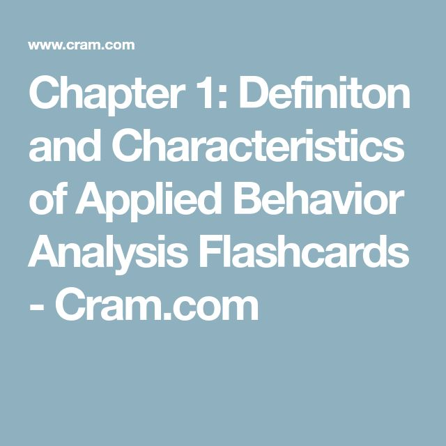 an introduction to the analysis of behavior A parent's introduction to applied behavioral analysis for the parents of a child with autism, the months after a diagnosis can be a difficult period of adjustment.