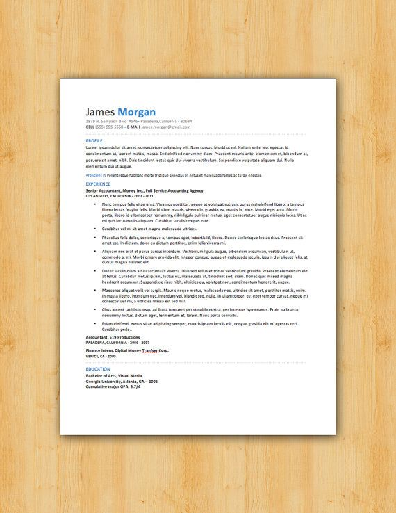 42 best Our Resume Templates images on Pinterest Resume - artist resume format