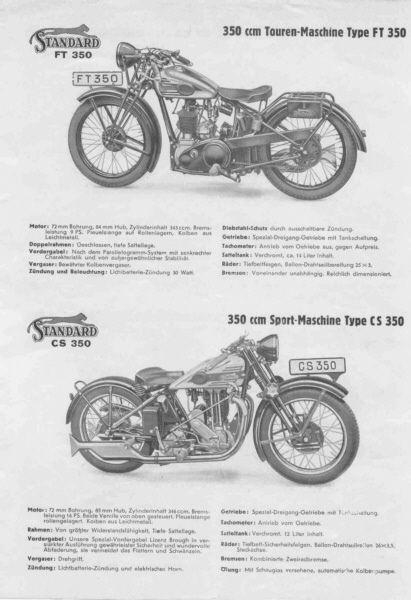 1932 Standard Modelle