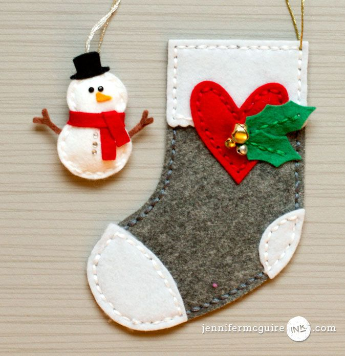 Felt Ornaments Video by Jennifer McGuire Ink