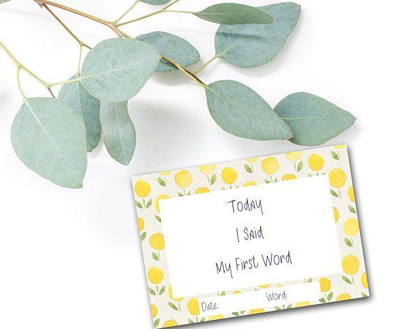 Baby Milestone Cards Baby Milestones Milestone Card Set
