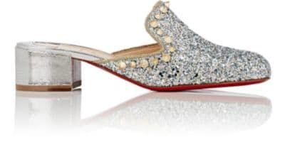 CHRISTIAN LOUBOUTIN Spiky Sun Glitter Mules. #christianlouboutin #shoes #