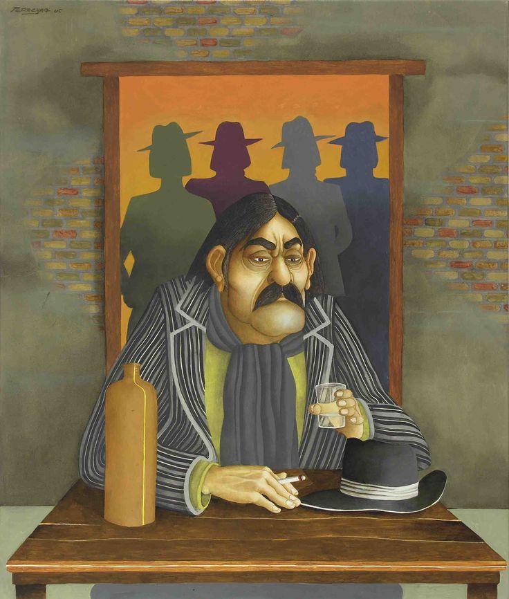 Milonga de Manuel Flores (2005) - Óleo s/tela 91 x 77