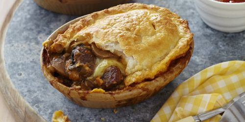 Very close to my recipe...  New Zealand Beef & Lamb - Recipes - Steak, Cheese & Mushroom Pot Pies