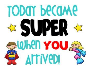 This is a inspirational poster/printable to have for a superhero theme. We hang these outside of our classrooms at my school. You could print on ca...