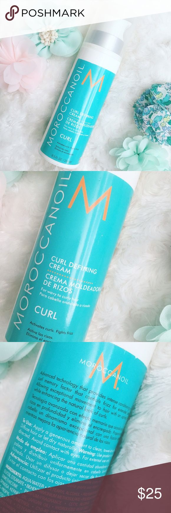 🐬BRAND NEW MOROCCAN OIL CURL CREAM🐬 🐬BRAND NEW MOROCCAN OIL CURL DEFINING CREAM🐬Easily activate and define curls while hydrating hair. Moroccanoil® Curl Defining Cream is one of the most popular products for curly hair🙌🏻This argan oil-infused curl definer features an advanced heat-activated technology that provides a curl memory factor to fight frizz and create well-defined, natural-looking, bouncy curls that last💁🏼 Brand new, never been used! 👍🏻 Reasonable offers only, no trades…